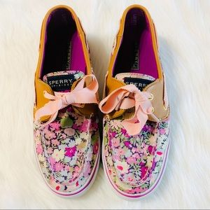 Sperry Top-Sider Floral & Leather Boat Shoes